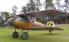 Plans for a WWI  Albatros  DVa  71 inch Wing Span,  Giant RC Model AIrplane