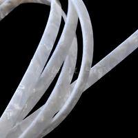 2 Pcs 5 feet White Pearl Celluloid Guitar Binding Purfling Strip 1650x10x1.5mm