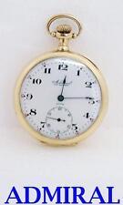 Antique Swiss Solid 14K ADMIRAL Mens 7J Pocket watch c.1900s* EXLNT* SERVICED