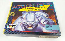 TURRICAN I + II X-OUT Kick Off Commodore 64 Disk Spiel C64 C-64 BIG BOX CIB VGC