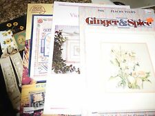 Lot of 17 Assorted Cross Stitch Pattern Books Leaflets Alphabets Country ANIMAL