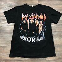 Def Leppard Mirror Ball 2011 Band T-Shirt Men's Medium A45
