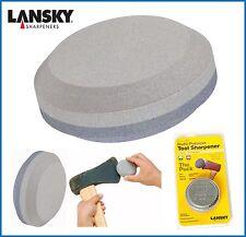 "Lansky LSPK 80999037003 Stone Puck Sharpener 3"" Diameter Dual Grit Carbide Sharp"