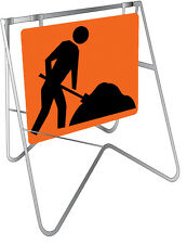 Two Piece Swing Stand Set Frame And Sign Symbolic Worker 600x600mm STD216