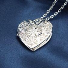 Halskette Versteck Herz Medaillon Amulett Foto Bild Kette zum öffnen klappbar 23