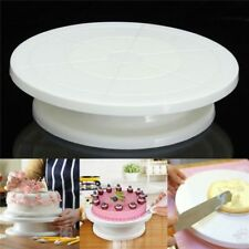 Home Icing Cake Making Decorating Rotating Plastic Turntable Display Stand 28cm