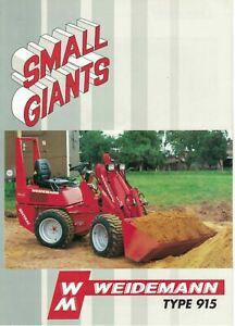 Weidemann Small Giants Type 915 Loader 1995 Brochure / Leaflet   6512F