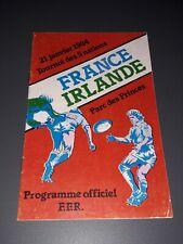 More details for 1984 france v ireland irlande five nations international rugby union programme