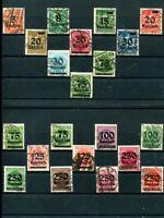 Deutsches Reich aus Nr. 277 - 296 gest. Ziffern, teils geprüft mit Varianten