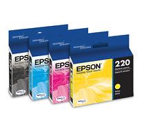 Epson Genuine 220 B, C, M, Y Set of 4 Ink Cartridges