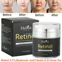BEST Retinol 2.5% Moisturizer Face Cream Vitamin E Collagen Acne Hyaluronic Acid