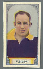 1933 Hoadleys Victorian Footballers Oakleigh E Fleming No 100 Football Card