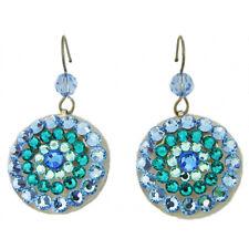Tarina Tarantino Mandala Blue Swarovski Crystal Pierced Earrings Made in USA