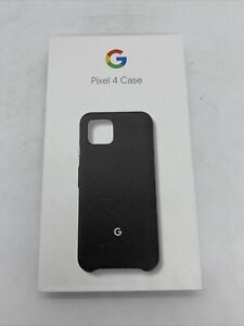 Official Genuine Google Pixel 4 Fabric Case Back Cover - Just Black