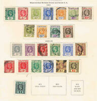 Ceylon - 1921-33 KGV Def. Set to the R5 - SC 225-243 [SG 339-356] MINT/USED 20-2
