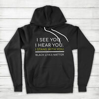 I Stand with You Solidarity Black Lives Matter Equal Rights BLM Pullover Hoodie