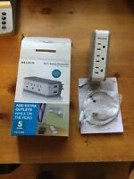 Belkin Mini 1 AMP Travel Surge Protector w/ USB Charger Power Strip Electrical