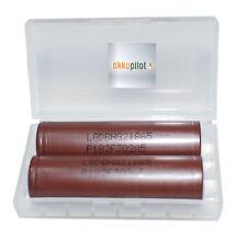 LG 18650 HG2 Akku 3000mAh, 3,6V 2er Premium Set wismec Smok Alien Kanger Box