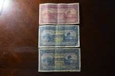 Trinidad and Tobago 1939 Five Dollar Note and two 1939 One Dollar Notes