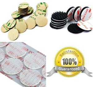 clear & black 3M DUAL LOCK™ Self Adhesive DOTS Pads ~ STICKY Tape HOOK FASTENERS