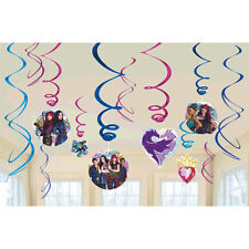 Descendants 2 Swirl Decoration Birthday Party Supplies Dangler Pack of 12