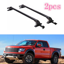 2X Aluminum Alloy Roof Rack Main Body Trim for Ford Raptor F-series 2008-2016