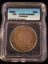 1964 Canadian $1 Coin ICG - AU58 (C320)