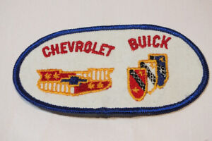 """Vintage Chevy Chevrolet Buick Jacket Patch 4.75"""" x 2.5"""" Sew On 1970s Denim"""