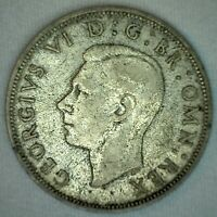1941 Great Britain Silver XF Half Crown English Coin Extra Fine 1/2 Crown UK