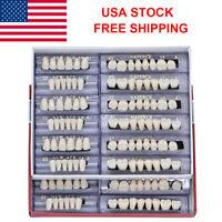 US 168pcs Acrylic Resin Denture 22# A1 Full Set Teeth Upper Lower Shade Dental