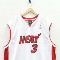 Vintage Dwyane Wade #3 Miami Heat Reebok Jersey Size 2XL White NBA