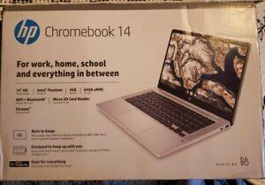 "HP 14"" Pentium 4GB/64GB Chromebook, 14"" HD Display, Intel Pentium Silver N5000"