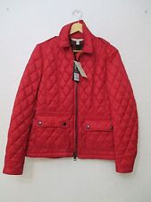 NEW BURBERRY Brit Women Military Red Quilted Jacket Size L MSRP $795.00