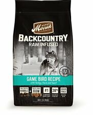 Merrick Backcountry Grain Free Raw Infused Game Bird Dry Dog Food 4 lbs.