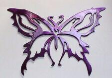 Metal Wall Art Decor Small Butterfly Metallic Purple