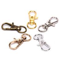 10pc Swivel Clips Snap Lobster Clasp Hook Key Ring Hooks DIY Jewelry Findings Pf