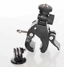 Fixation support camera embarquee pince moto guidon velo action cam gopro