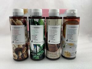 KORRES Ltd Edition Natural Shower Gel Mediterranean Escape 8.45 oz ea 4-Pc New