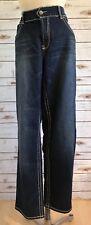 STEVIE & LINDSAY Women Dark Wash Denim Blue Jeans Boot Leg Pants Size 14