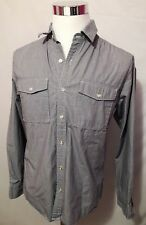 Nike 6.0 Mens Gray Long Sleeve Button Front Shirt Size M