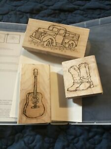 Stampin' Up! Country Livin'  Stamp Set - Truck Guitar Boots