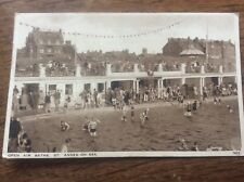 Open Air Baths St Anne's on Sea Fylde Coast Swimming Pool Salmon Series Postcard