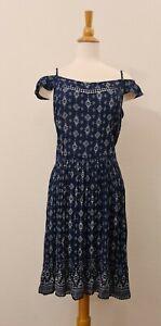 SUPERDRY Women's Balkan Print Summer Dress, Boho Size M 10 NEW