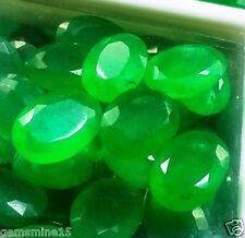 25.95 CT 5 Pcs Emerald Lab Created Awesome Quality Wholesale Lot Gemstone W3163