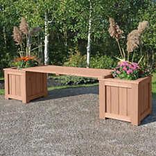 Yardistry Cedar Bench Planter New Free Shipping