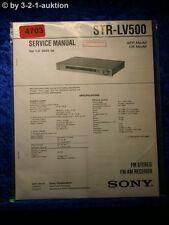 Sony Service Manual STR LV500 FM/AM Receiver (#4703)