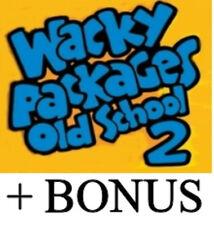 Wacky Packages Old School series 2 set + puzzle +bonus