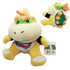 "New 7"" Baby Bowser Jr Koopa Plush Toy Super Mario Brothers Figure Stuffed Animal"