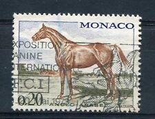 MONACO, 1970, timbre 832, CHEVAUX , CHEVAL ANGLO-ARABE, oblitéré