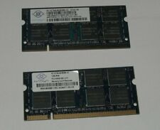 2x 1GB RAM Nanya DDR2 Notebook PC2-5300s SODIMM  677MHz